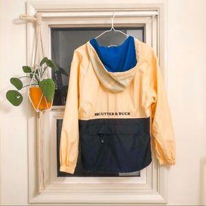 Cutter & Buck Navy, Blue & Yellow Hooded Jacket